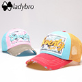 Ladybro Women Hat Cap Female Seventy Net Cap Male Trucker Hat Snapback Ladies Mesh Hat Lovers