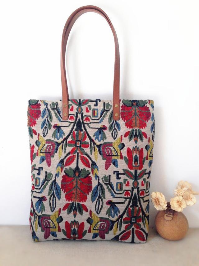 2016 Women Canvas Handbags Etsy Handmade Vintage Retro Aztec Tribal Chic Bohemian Hippy Hippie Gypsy Boho Shopping Totes Bags(China (Mainland))