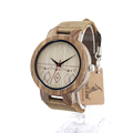 BOBOBIRD C19 Lovers Retro Design Brand Luxury Zebra Wooden Wristwatches With Real Leather Band Quartz Watch