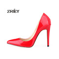 Women Sexy Pumps Pointed Toe High Heels Shoes Patent Leather Party Wedding Sapatos Femininos