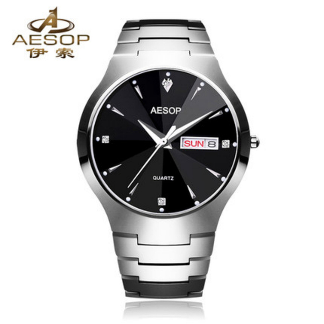 Luxury Couple Quartz Watch AESOP Top Brand Tungsten Steel Strap Waterproof Men's Sport Watches Women Dress Wristwatch 8835