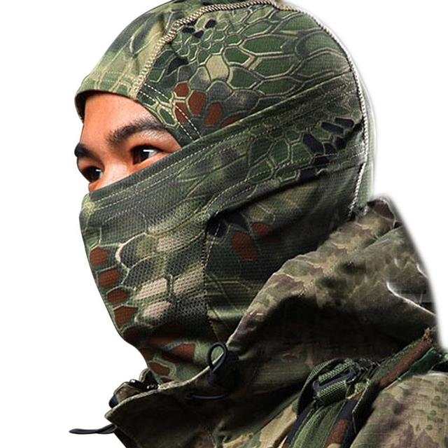 5 Color Tight Camo Balaclava Tactical Airsoft Paintball Motorcycle Protection Full Face Mask W1