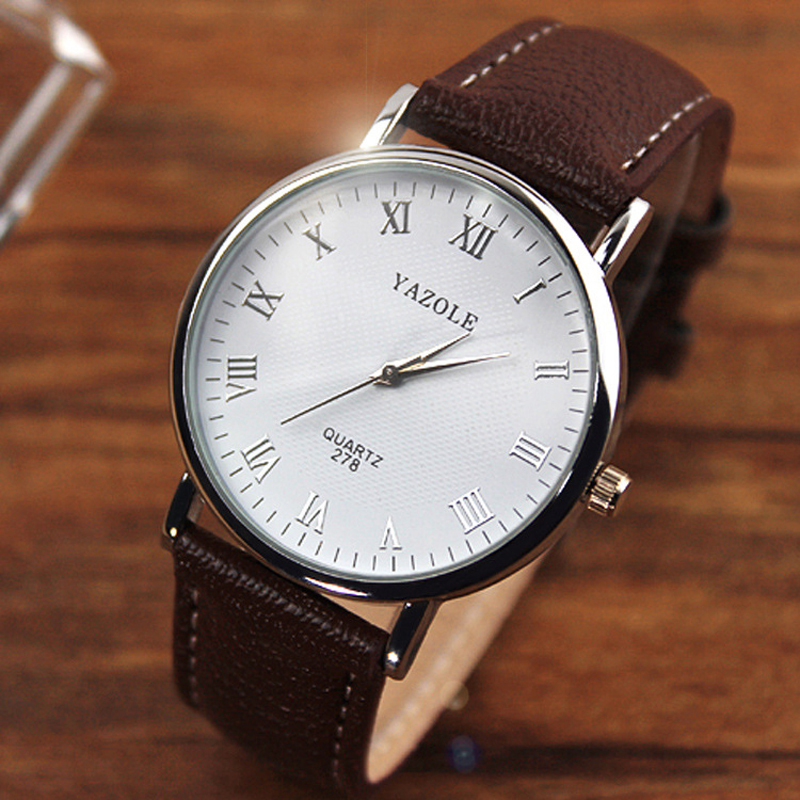 wristwatch relogio masculino picture more detailed picture about yazole 2017 new luxury leather strap fashion casual round dial men quartz watches relojes male relogio
