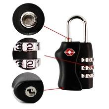 Black TSA Resettable 3 Digit Combination Travel Luggage Suitcase Lock Padlock(China (Mainland))