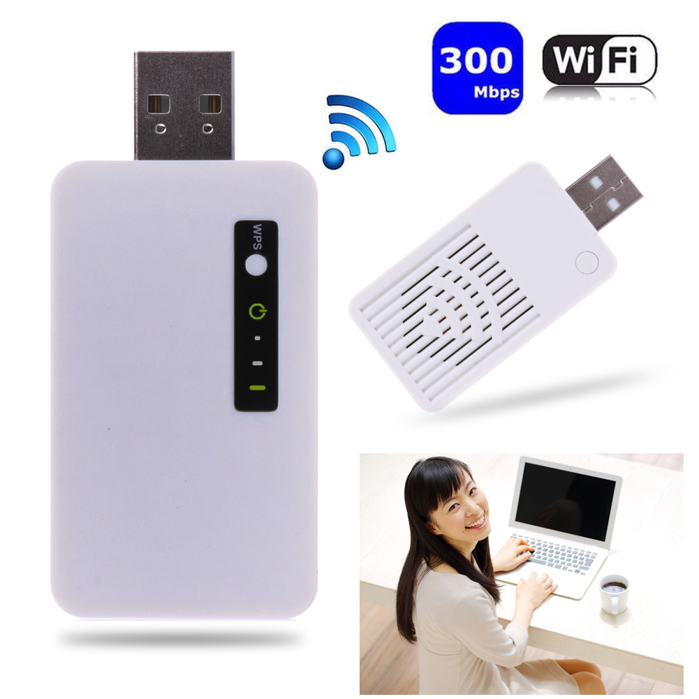 300M Wireless Mini USB WiFi Repeater 2.4 GHz WLAN Network Router Signal Range Extender(China (Mainland))