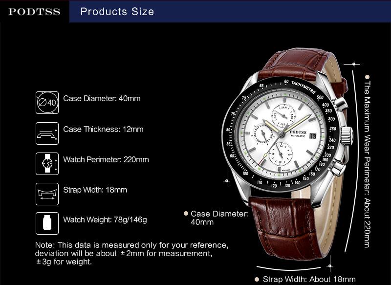Хорошие Продажи Моды Спортивные Часы Светящиеся Водонепроницаемые Мужские Часы PT6280G