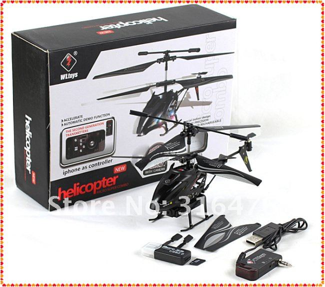 WLToys S215 iPhone / Andoird control 3.5CH RC USB MINI Gyro Camera i-Helicopter as S977 helicopter + Fast Shipping(China (Mainland))
