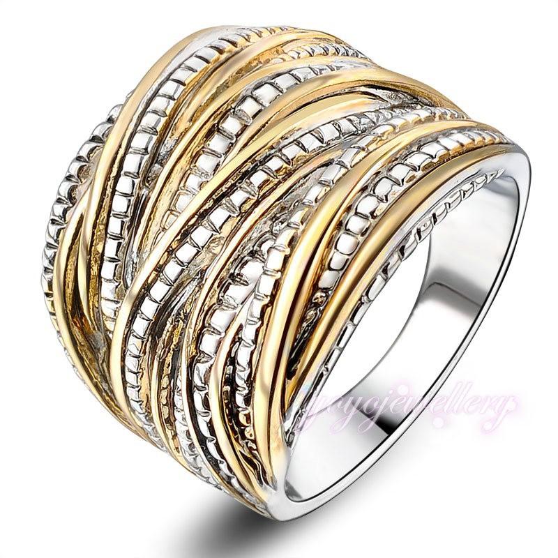 2015 anillos de moda para mujer Rock anillos 18 K chapado en oro de la joyería envío gratis R1643(China (Mainland))