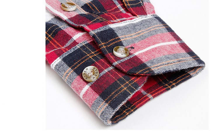 Men's Long Sleeve Plaid Shirts Flannel (16)