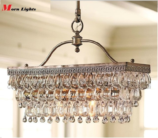 Crystal Chandelier Rectangle: Aliexpress.com : Buy Antique Rectangular Crystal Dining