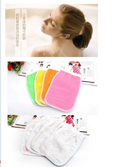 Free shipping 400 pcs/lot Shower Towel Magic Peeling Glove Exfoliating Bath Glove(China (Mainland))