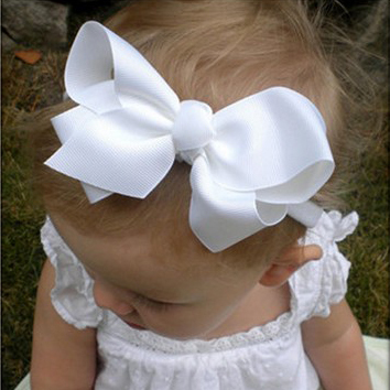 Summer style big bowknot baby girl hair accessories Infant baby headband Children elastic hair bands Ribbons and bows 1PC HB179Одежда и ак�е��уары<br><br><br>Aliexpress