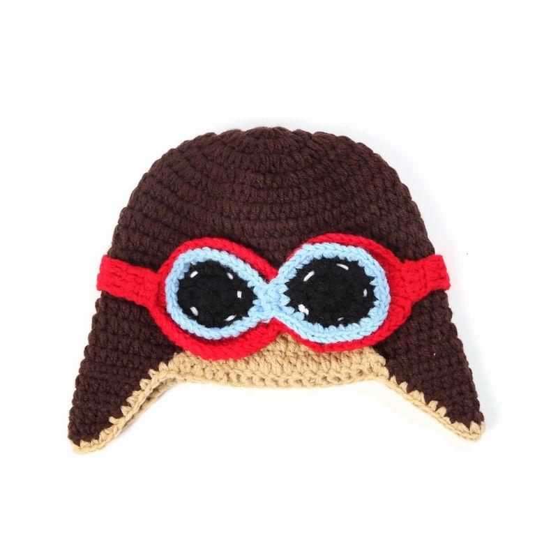 Handmade Newborn Baby Boy Hat Knitted Aviator Beanie Hat ...