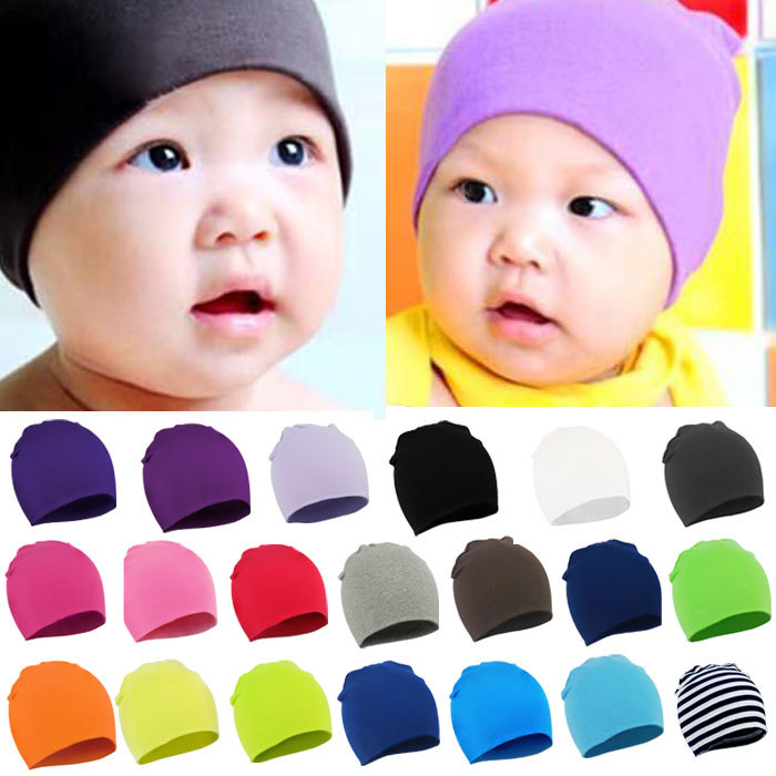 2015 Newborn  spring winter New Unisex Baby Boy Girl Toddler Infant  colorful Cotton Soft Cute Hat Cap Beanie Free shipping(China (Mainland))