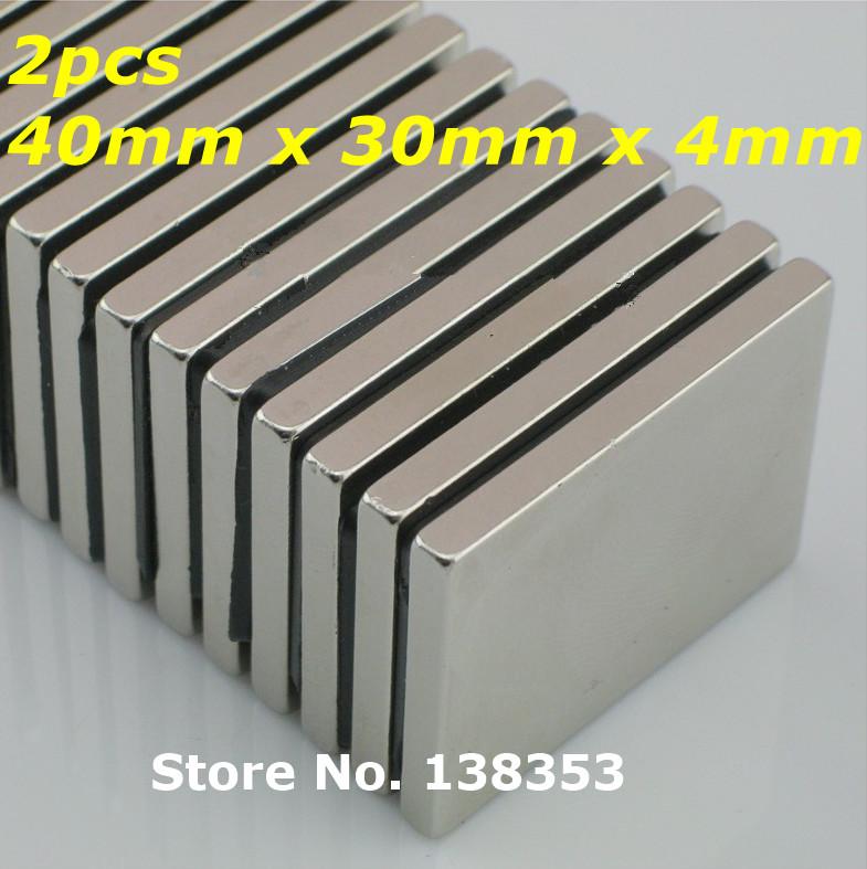 2pcs Bulk Super Strong Neodymium Rectangle Block Magnets 40mm x 30mm x 4mm N35 Rare Earth NdFeB Rectangular Cuboid Magnet<br><br>Aliexpress