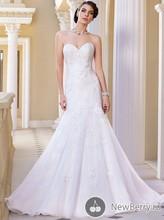 Grecian Style Wholesale Bridal Dress OEM Service Mermaid Sweetheart Appliqued Sweep Train Popular Hot Image Wedding Dress MF616(China (Mainland))