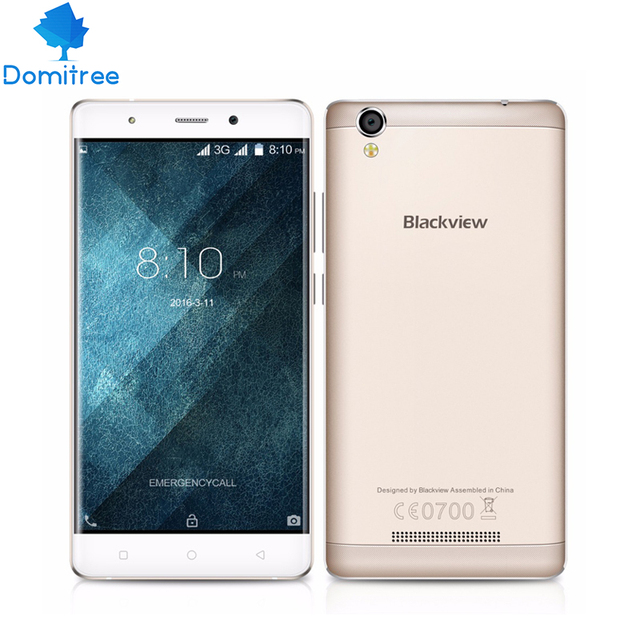 Original Blackview MTK6580 A8 5 pulgadas 1280x720 IPS HD Quad Core Android 5.1 Teléfono Móvil 1 GB RAM 8 GB ROM 8MP CAM WCDMA
