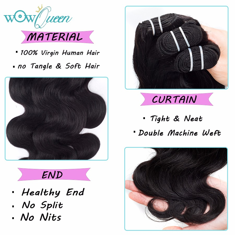 7A Peruvian Virgin Hair Body Wave 4 Bundles Unice Hair Peruvian Body Wave Human Hair Extension Body Wave Peruvian Virgin Hair