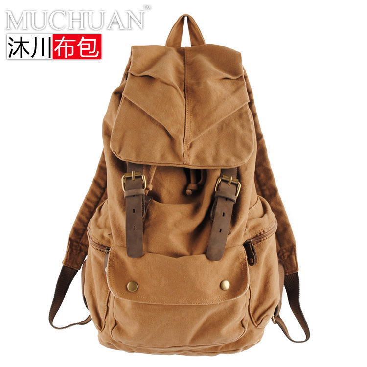 Korean Backpack Men And Women Both Shoulders Package Student A Bag Canvas Leisure Time Tide England Travelling Bag(China (Mainland))