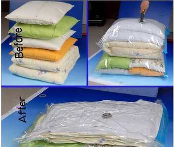 compressible  storage bag  2bags 60cm*80cm+hand pump