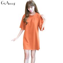 Buy 2017 Women Dress New Fashion Designer Loose Slash Neck Dresses Summer Casual Short Sleeve Ladies Elegant Elastic Dresses for $15.75 in AliExpress store