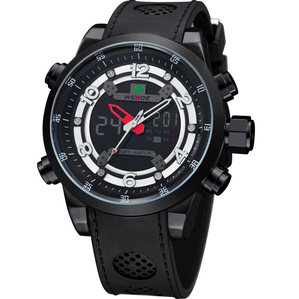 !!Men Luxury Brand Analog-Digital Date Day Alarm Men MIYOTA Quartz Movement Waterproof diver Watch - The global digital tesco store