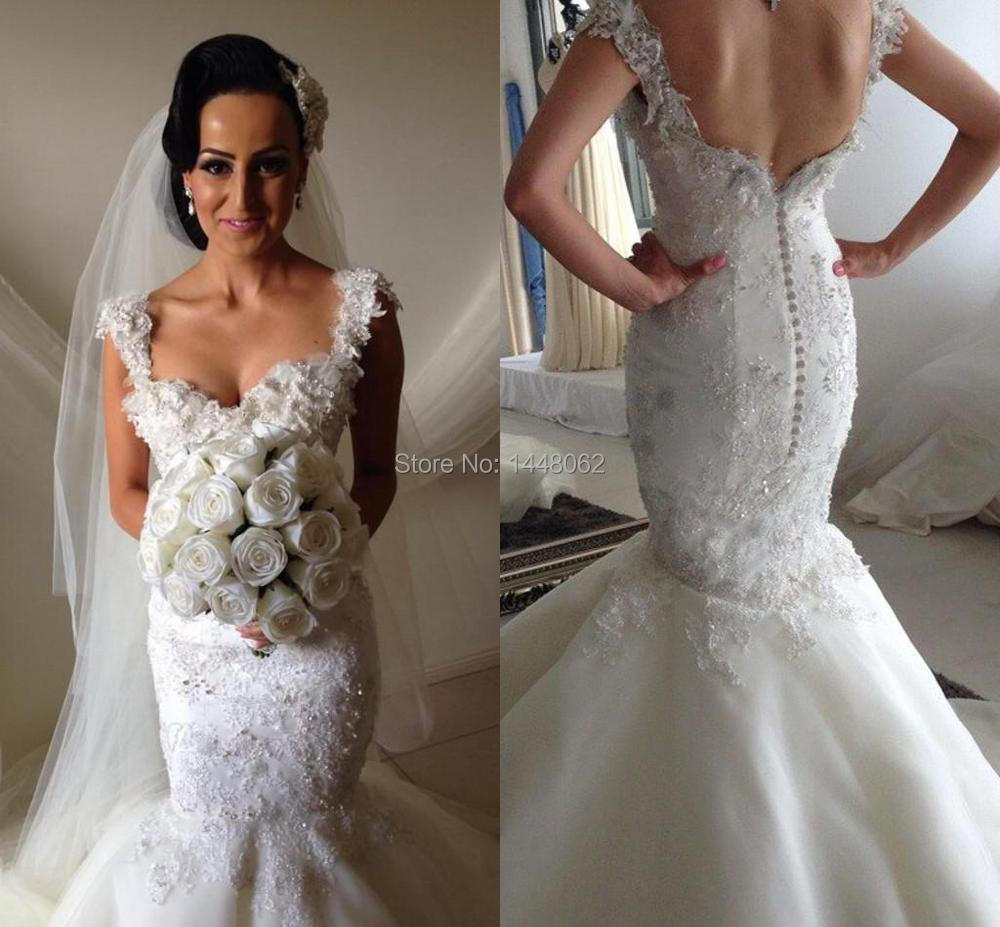 Steven khalil lace wedding dress for Steven khalil mermaid wedding dress