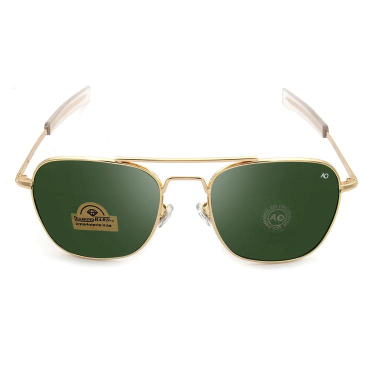 AO Aviator New Alloy Gold Metal Frame Brand Designer G15 For Men Retro Glasses Lens Sunglasses High Quality With Original logo(China (Mainland))