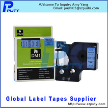 Buy Compatible Dymo D1 Label Maker Tape 43616 6mm Black Blue Label Tapes for $27.00 in AliExpress store