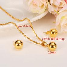Bangrui Perlen Anhänger Ohrringe Äthiopischen set Schmuck Anhänger Halskette Ohrring Gold Farbe Afrikanische Schmuck Arabischen(China)