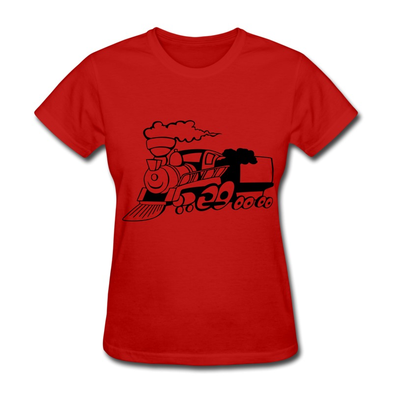 Creat Own Pre-Cotton Woman Tee Shirt Funny Train Hd Vector Swag Camp Logos Tee Shirts for Women's 100% Cotton Wholesale(China (Mainland))
