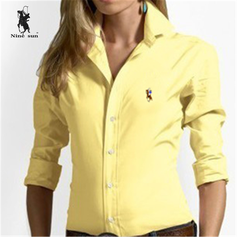 Fashion Women tops Embroidery Color little horse blusa Polo Shirts Cotton Shirts Solid High Quality camisa Ralp Polo Shirts XL(China (Mainland))