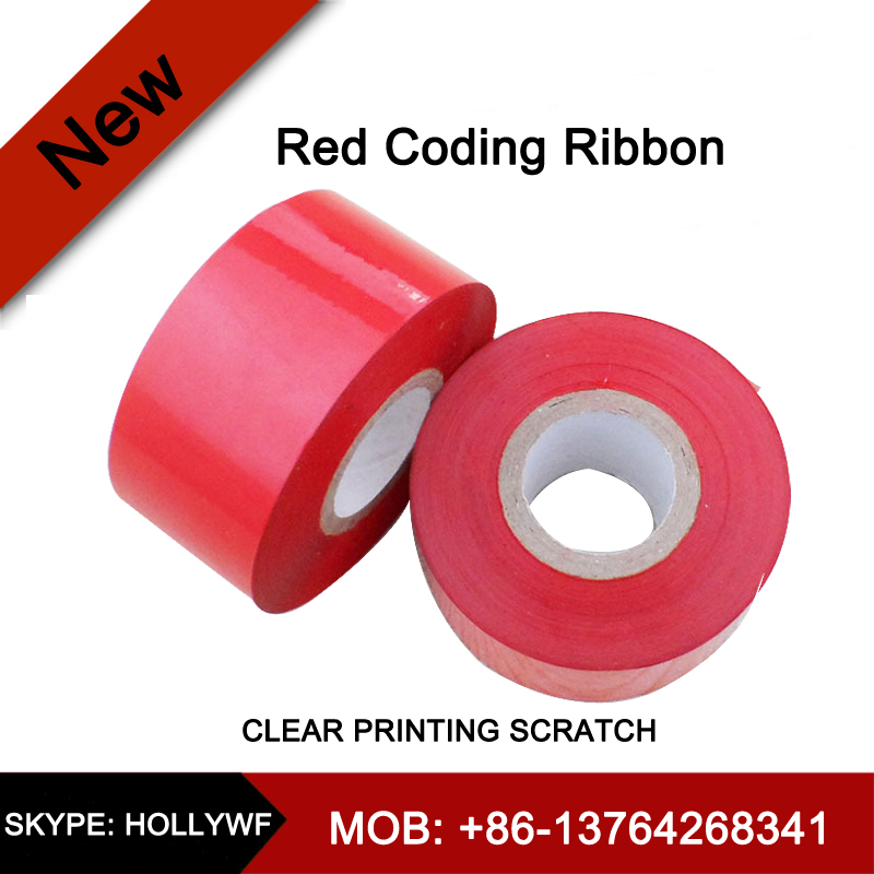 30mm*100m Colorful Coding Ribbon by Coding Machine of date batch coding on flexible packing from xinye tec since 1999(China (Mainland))