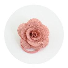 Gorące kwiaty akcesoria do włosów dla kobiet ślub koreański wielowarstwowy trójwymiarowy opaska do włosów uroczy duży róża elastyczna heandband(China)