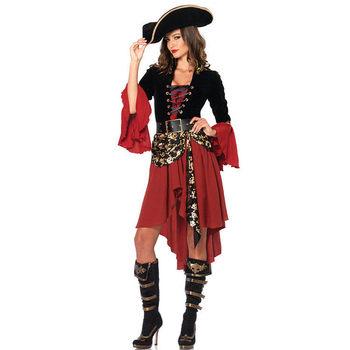 Жестокие южных морей капитана пиратский костюм взрослых хэллоуин фантазия фантазии платье женский косплей наряд