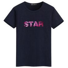 2019 Новая мода 3D печать звездное небо шаблон футболка для мужчин тонкий круглый воротник звезда письмо футболка мужские повседневные летние...(China)