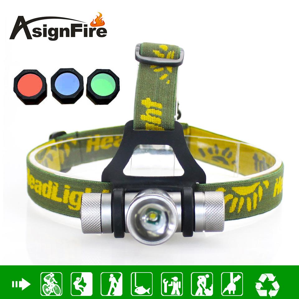 Headlamp 1000 Lumens 4 Color CREE Q5 LED Headlight Zoom LED Head Light With Green / Red / Blue Diffuser Cabeza Lampara(China (Mainland))