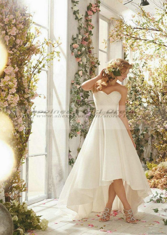 Buy vestido de novia corto 2015 cheap for High low wedding dresses cheap