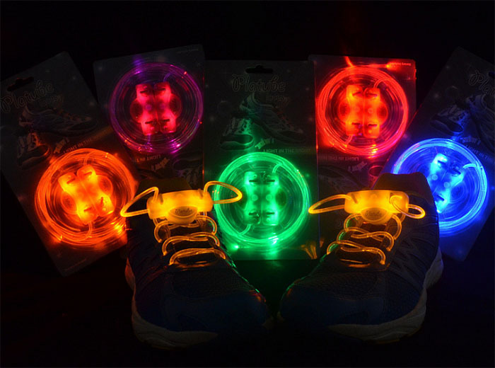 free shipping 4pcs/lot(2 pair) Promotion Blister packing Best Price Disco Flash light up LED Shoelace(without battery) SA001(China (Mainland))