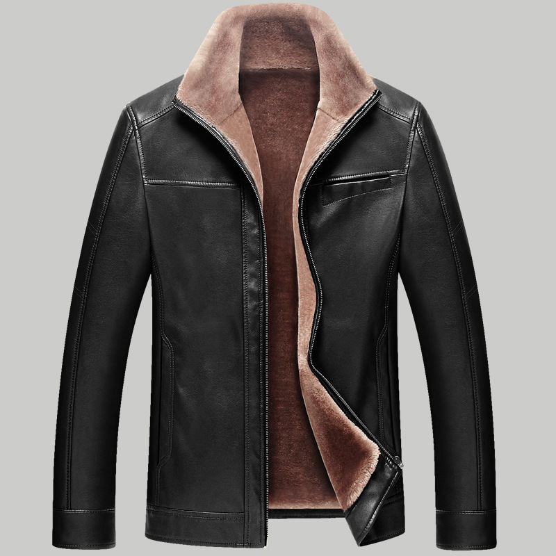 Fleece Leather Jacket | Outdoor Jacket