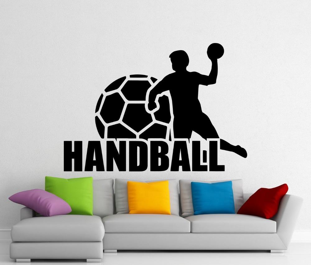 Popular sport handball buy cheap sport handball lots from for Vinilos pared aliexpress