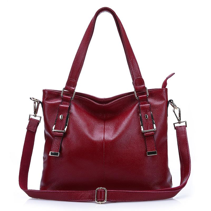 New casual women handbags Genuine Leather cowhide handbag totes bag lady shoulder bag Messenger bag crossbody bags high quality