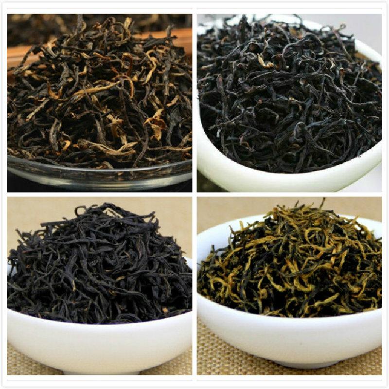 4 Types Organic Chinese Black Tea - Lapsang Souchong, Jin Jun Mei, Yunnan Black Tea Dian Hong, Yinghong, Four 50g China Tea(China (Mainland))