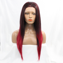 Buy Mixed Red Color high temperature heat Resistant hair Hand tied synthetic Lace front Party Wig Africa American Cosplay for $44.50 in AliExpress store