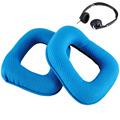 2Pcs Set Soft Replacement Ear Pads Headband Cushion Blue Earpads for Logitech G35 G930 G430