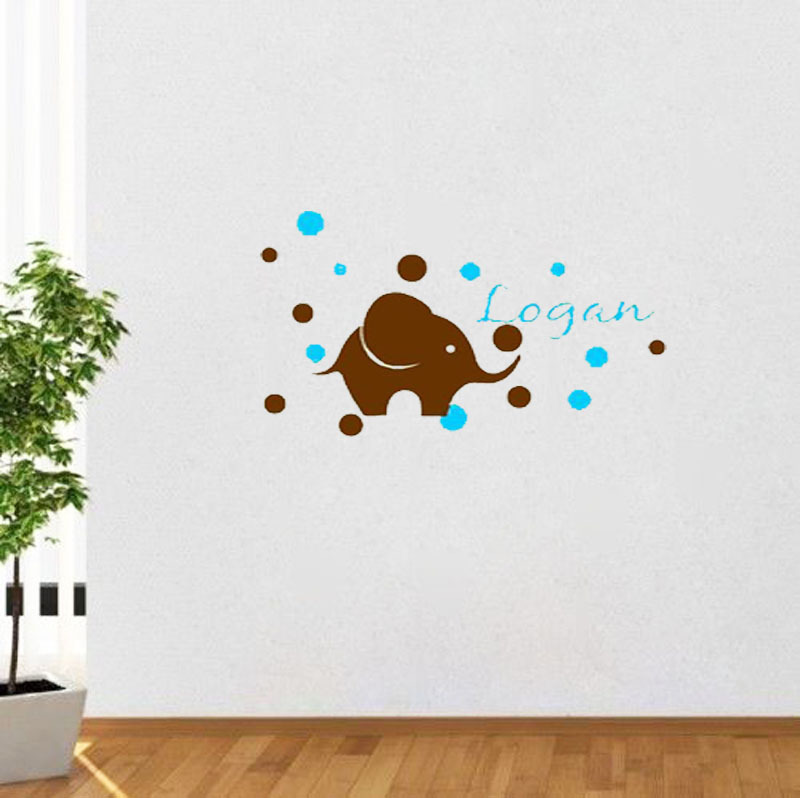 Baby Name Wall Art 28+ [ baby wall art stickers ] | hush little baby wall sticker