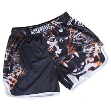 MMA shorts homens calções de boxe troncos calças de boxe tailandês curto mma luta shorts muay thai kickboxing(China)