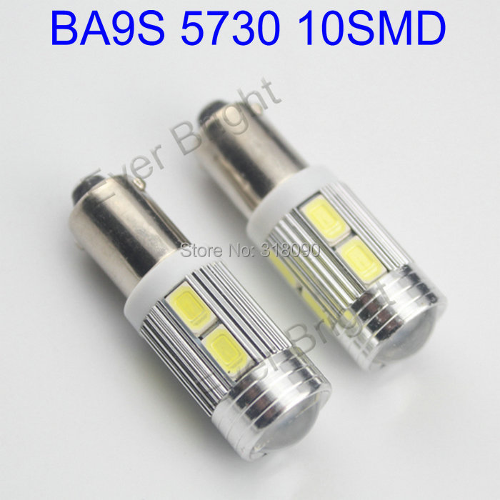 super bright 4pieces lot white bulbs ba9s led 12v car led 5730 10 smd 10led lens interior bulbs. Black Bedroom Furniture Sets. Home Design Ideas