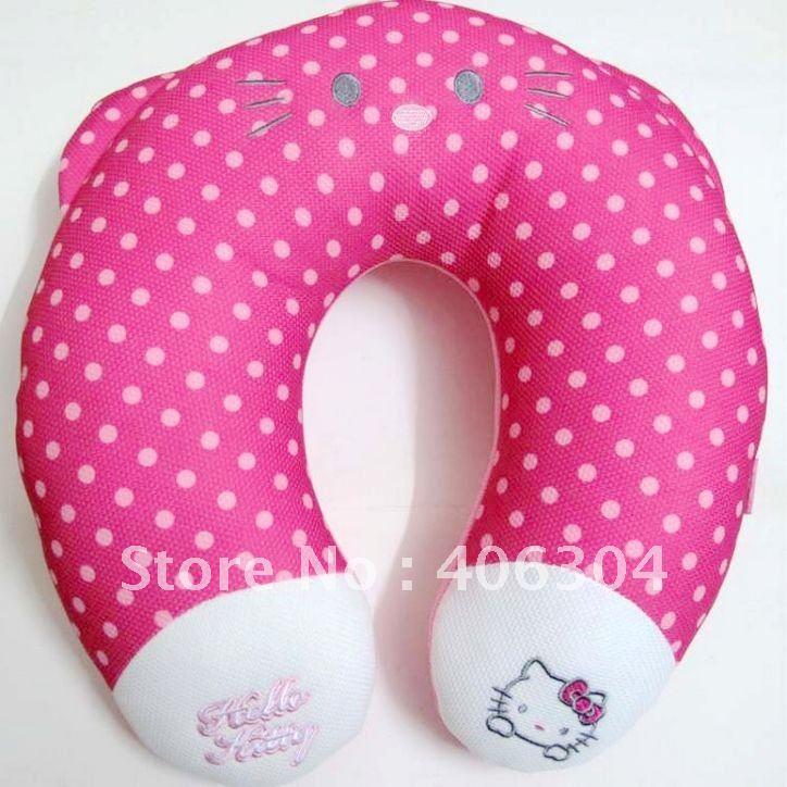 Free shipping,hello kitty auto accessories, cartoon U shape head pillow.car interior decoration(China (Mainland))