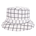 New Harajuku Flat Bucket Hats Men Women 3D printed White Plaid Outdoor Beach hunting Fishing Bucket